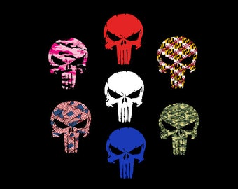 Punisher Decal - Punisher Skull - Military Decal - Military Sticker - Military Car Decal - Punisher Car Decal