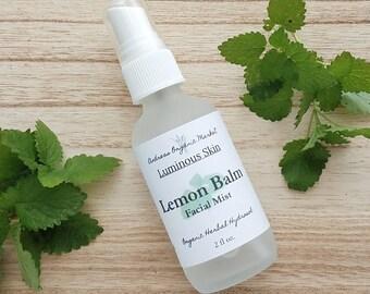 Organic Lemon Balm Facial Toner, Organic Hydrosols, Organic Skin Care, Facial Care, Natural Skin Care, Natural Facial Mist, Vegan