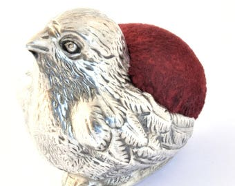 Edwardian Antique Silver Pin Cushion – Chick - 1906