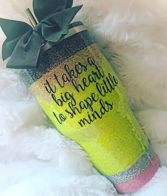 Glitter Pencil Tumbler - Perfect for Teacher Gifts!