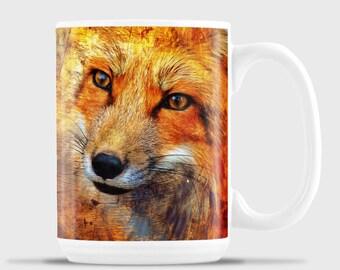 Stylized Red Fox Face Mug
