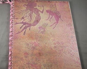 Fairy Floral Notebook Bound with Ribbon