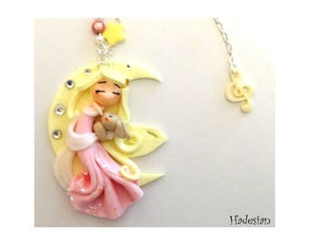 Necklace Sleeping On The Moon - Unique Creation