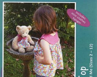 Hallie Top - My Doll & Me.  Doll and girls dress pattern.