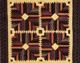 """Prairie Flower Quilt Pattern CMQ-133.  Size 64"""" x 76""""."""