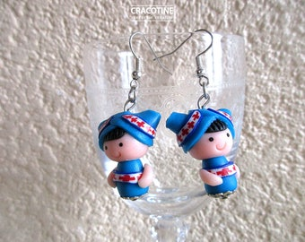 1 pair of polymer clay earrings