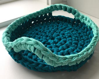 Tray / Handled Tray / Aqua and Teal
