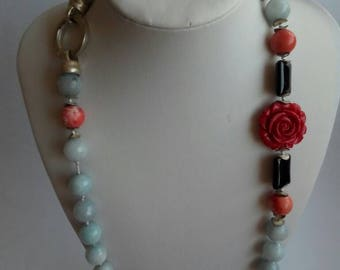 Stone pendant necklace jade