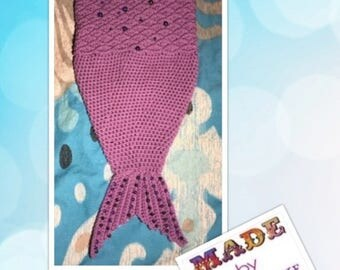 12 - 18month Mermaid tail Cocoon with beading