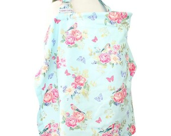 Emma's Floral | Blue and Gold Nursing Cover