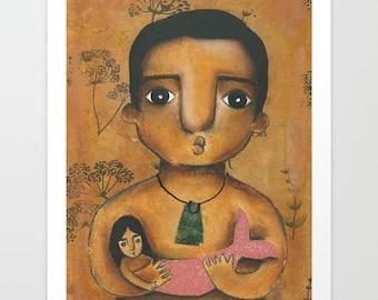 Karitoki and Pania. Art Prints