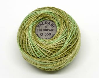 Valdani Pearl Cotton Thread Size 8 Variegated: #O559 Watery Weed