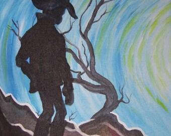 Cowboy art, Western art, Cowboy Decor, Cowboy gift, Western decor, Cowboy wall art