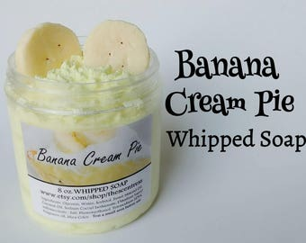 Banana Cream Pie Whipped Soap - Bath Dessert - Skin Care Product - Beauty Product - Banana Soap - Scented Soap - Birthday Gift - Vegan Soap