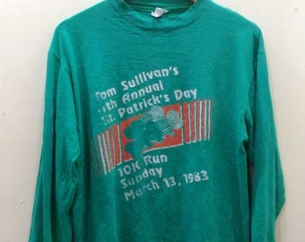 "15% DISCOUNT PROMOTION Vintage""TOM Sullivan 4th annual st patrick day 10k run 1983"" t shirt"