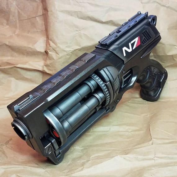 """Mass Effect Inspired N7 """"Night Flying Rodent"""" Modified Nerf Maverick Steampunk Cosplay LARP Birthday Gift Fallout Pirate SciFi by HGBrasswell"""