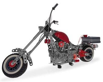 Motorcycle Bike Chopper Construction Model Kit (940 Pieces)
