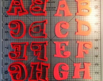 Ravi Alphabet Uppercase Font 1 inch Full Cutter Set