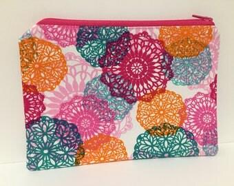 Zipper Pouch, Pencil Case, Make Up, Gift, Teacher Gift, Teen gift, New Mum Gift, Nappy Bag, Bag Organiser,Cosmetic bag, Pink pouch