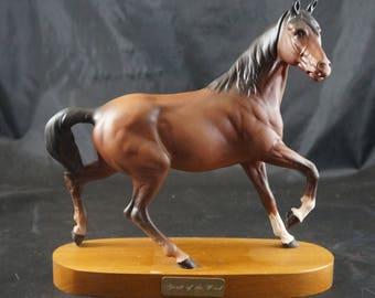 Beswick Porcelain Figure on Plinth of A Prancing Mare Spirit Of The Wind Model 2688