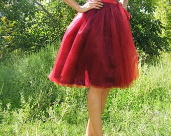 Tulle Midi Tutu Skirt different colors