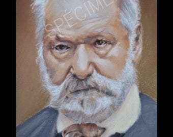 Victor Hugo poster, printed on glossy paper.