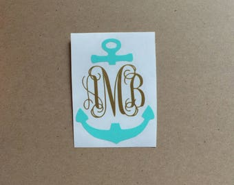 Anchor Monogram Decal - Vine Monogram