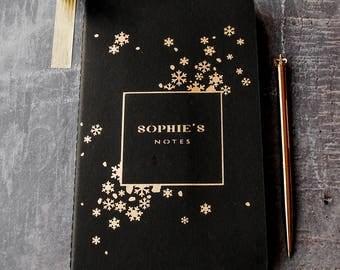 Luxury Snowflake Personalised Notebook