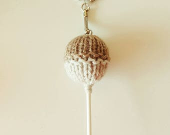 Keychain / bag Brown lollipop Candy - candy - shaped charm