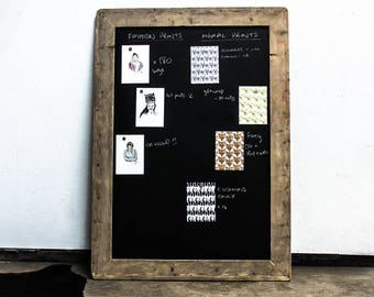 Laura Large Chalkboard with Reclaimed Scaffolding Board Rounded Corner Frame - Designed and made to order accessories by urbangrain.co.uk