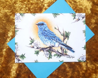 Blue Jay Bird, Greeting Card, Card, Magnet