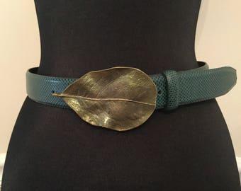 Vintage Carlisle Leaf Buckle Belt