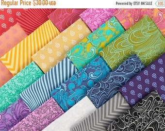 """20% Off True Colors by Tula Pink for Free Spirit Fabrics Design Roll -  2.5"""" Precut Strips 100 Percent Cotton - Qty 20 Strips"""