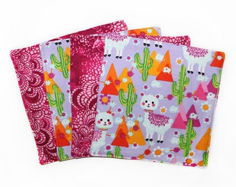 Llama Gift, Lunchbox Napkins, Alpaca Napkins, Reusable Napkins, School Supply, Flannel Wipes, Toddler Gift, Lunch Wipes, Baby Wipes