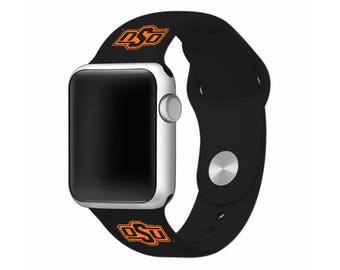 WATCH BAND ONLY - Oklahoma State University Cowboys Silicone Sport Band Fits Apple Watch™ - Officially Licensed