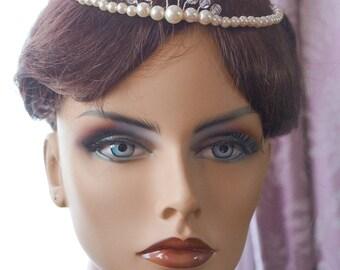Pearl Wedding Headband Bridal Tiara Headband Pearl Bridal Headband Pearl Bridal Hairpiece Wedding Tiara  Pearl Wedding Hairband Crystal