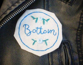 Bottom Patch- Hand Embroidered Kinky Badge