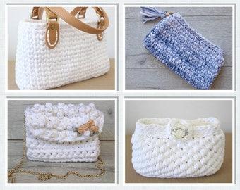 Purse Pattern Bundle, Small Bag Pattern, Crochet Bag Pattern, Clutch Tutorial, Crochet Patterns, Crochet, Pattern, Purse Tutorial, Gift