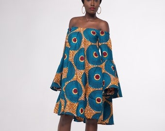 African Print Anike Shift Dress