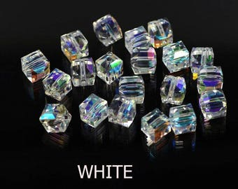 100pcs/lot 4mm Mixed Faceted Czech Cristal China Spacer Chunky Murano Crystal Glass Beads For Jewelry Making Chandeliers Free Shipping