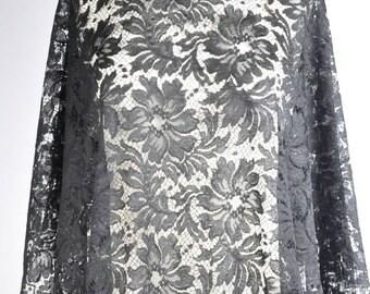 Fabric Calais Caudry leavers lace deco very fine lurex thread (50cm x 110 / 115cm)