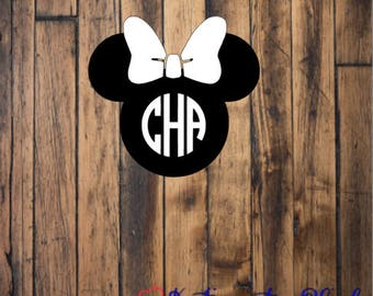 Minnie Mouse Monogram Decal