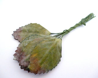 Small Green Leaf _ artificial leves_X0210458/7547_Green plastic  leaves_pack of 12 leaves