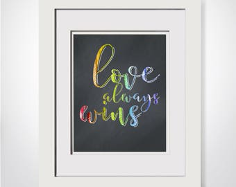Love Always Wins|Love Is Love lgbt Pride|Equality Now|Gay Wedding Gift|Trending Now Art|Trending Now Prints|She Persisted|Gender Equality