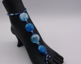 Blue Glass Barefoot Sandals (Pair) Women's Size 8