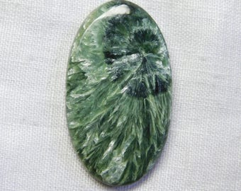Fantastic Russian Seraphinite oval shape cabochone superb gemstone 47.50CTS 42X23X4MM