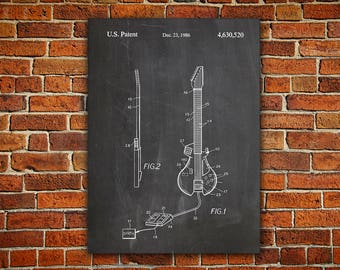 Guitar Patent Canvas painting, Guitar Effect, Guitar Pedal, Guitar Processor, Effects Unit, Electric Guitar, Gibson Les Paul,Patent