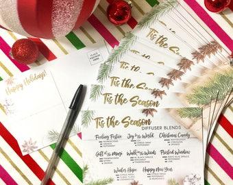 "Holiday Diffuser Recipes 4""x6"" Postcard - PRINTED"