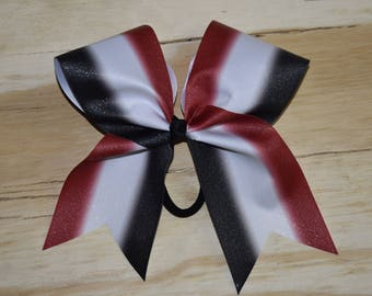 Red Black and Ombre Bow