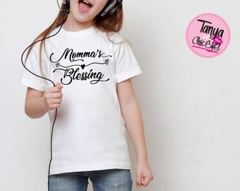 Momma's Blessing  SVG cut file for Cricut and Silhouette cutting machines Blessing SVG Unique Font